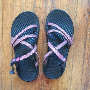 Pink Chacos size 7